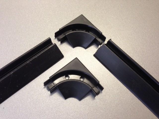 tambour door track and corner & Tambour door track and corner pieces 4 x 30cm | EVO Design Pezcame.Com
