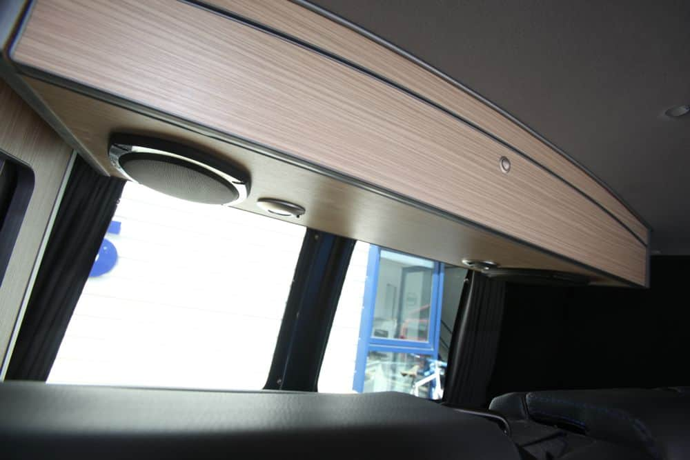 Full width over bed locker for low roof VW T5 S