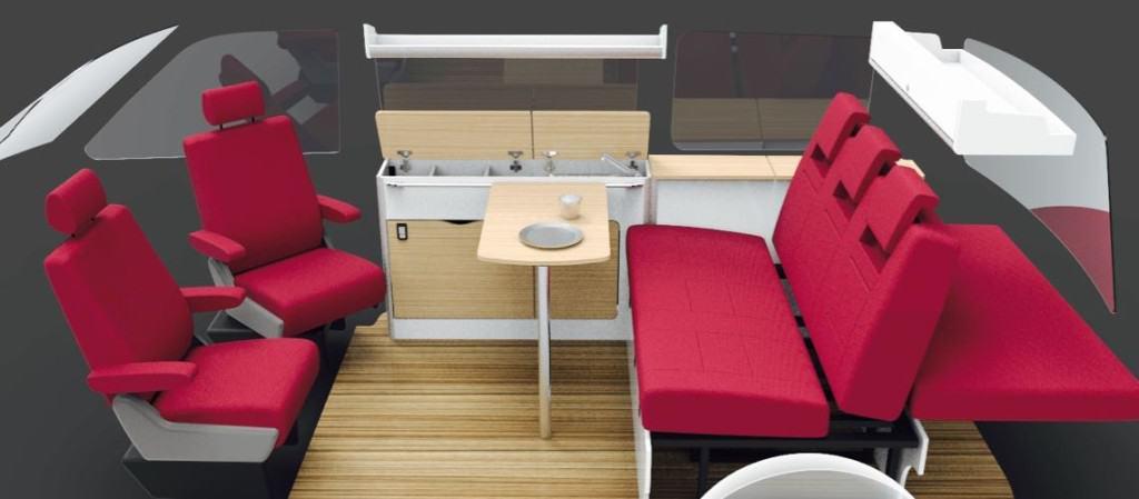 Slim Units For 130cm Seats