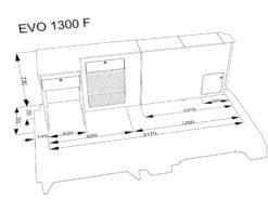 EVO 1300f FLAT PACK DIMENSIONS