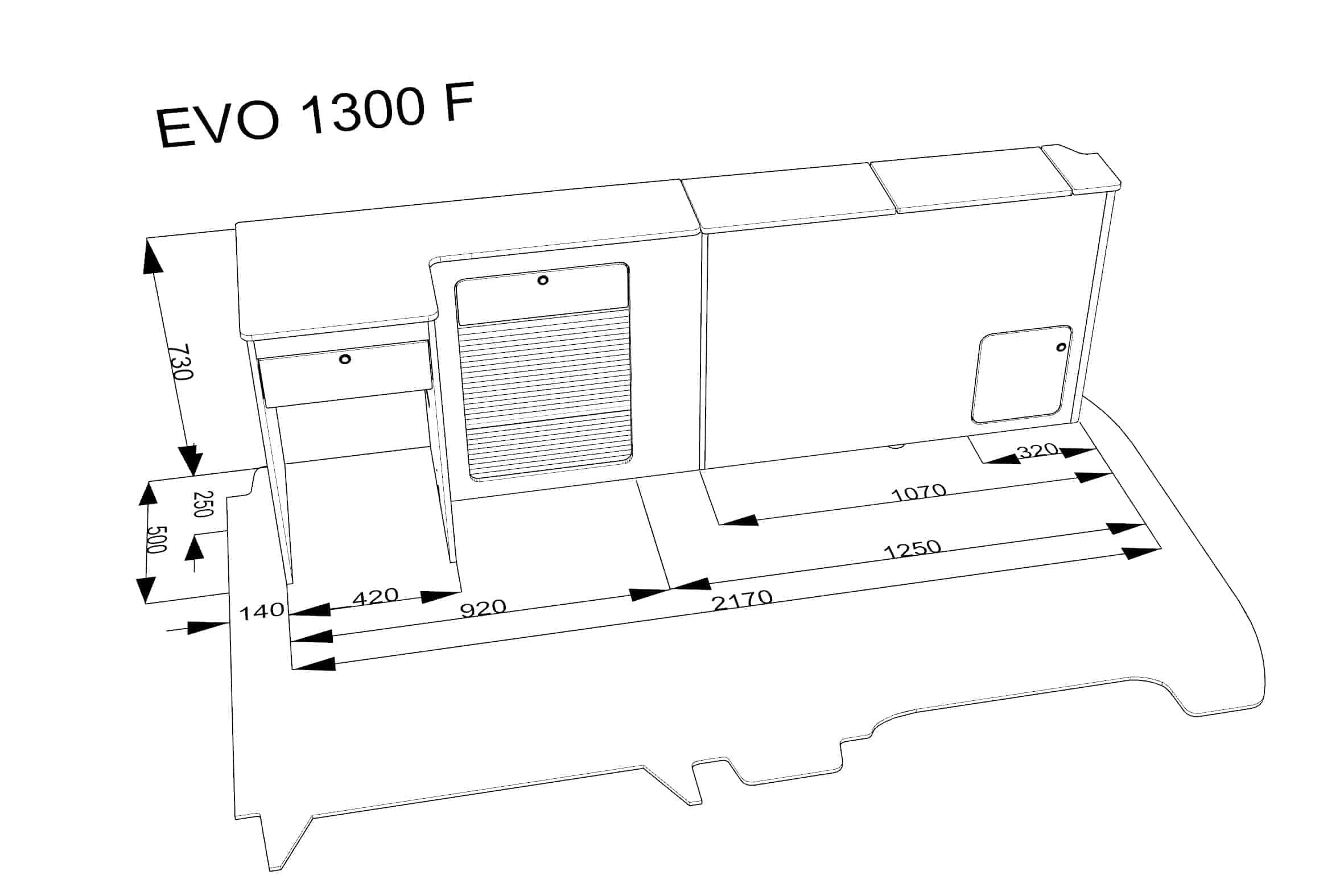 furniture kit 1300  f  low rib seat