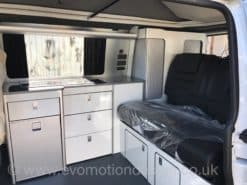 GLOSS WHITE AND BLACK SPARKLE RV FURNITURE