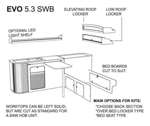 vw flat pack layout