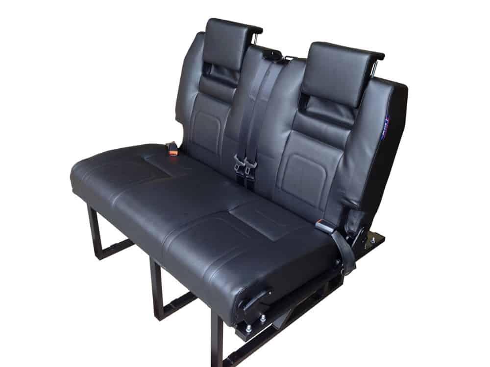 black vinyl rib seat bed