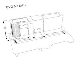 EVO 5.3 FLAT PACK FURNITURE DIMENSIONS