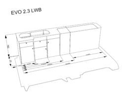 EVO 2.3 FLAT PACK FURNITURE DIMENSIONS