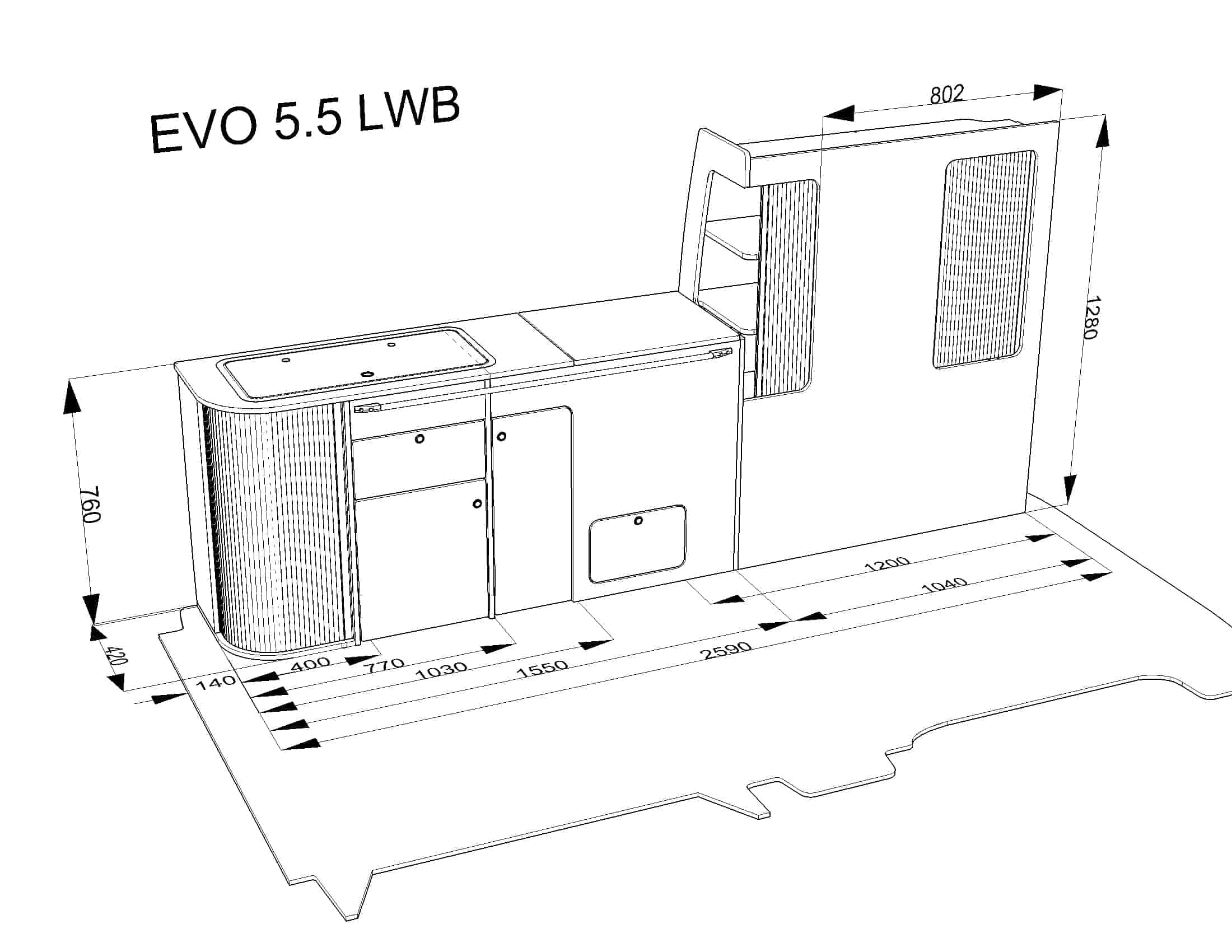 Evo 5 5 Vw Swb Curved Kit Evo Design