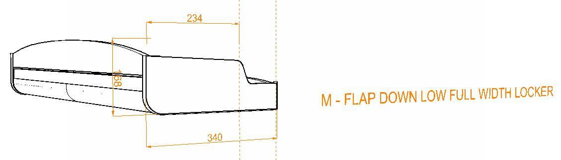 Evo Over bed locker diagram6