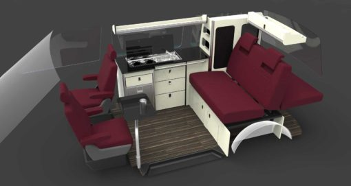 evo design furniture vw t6