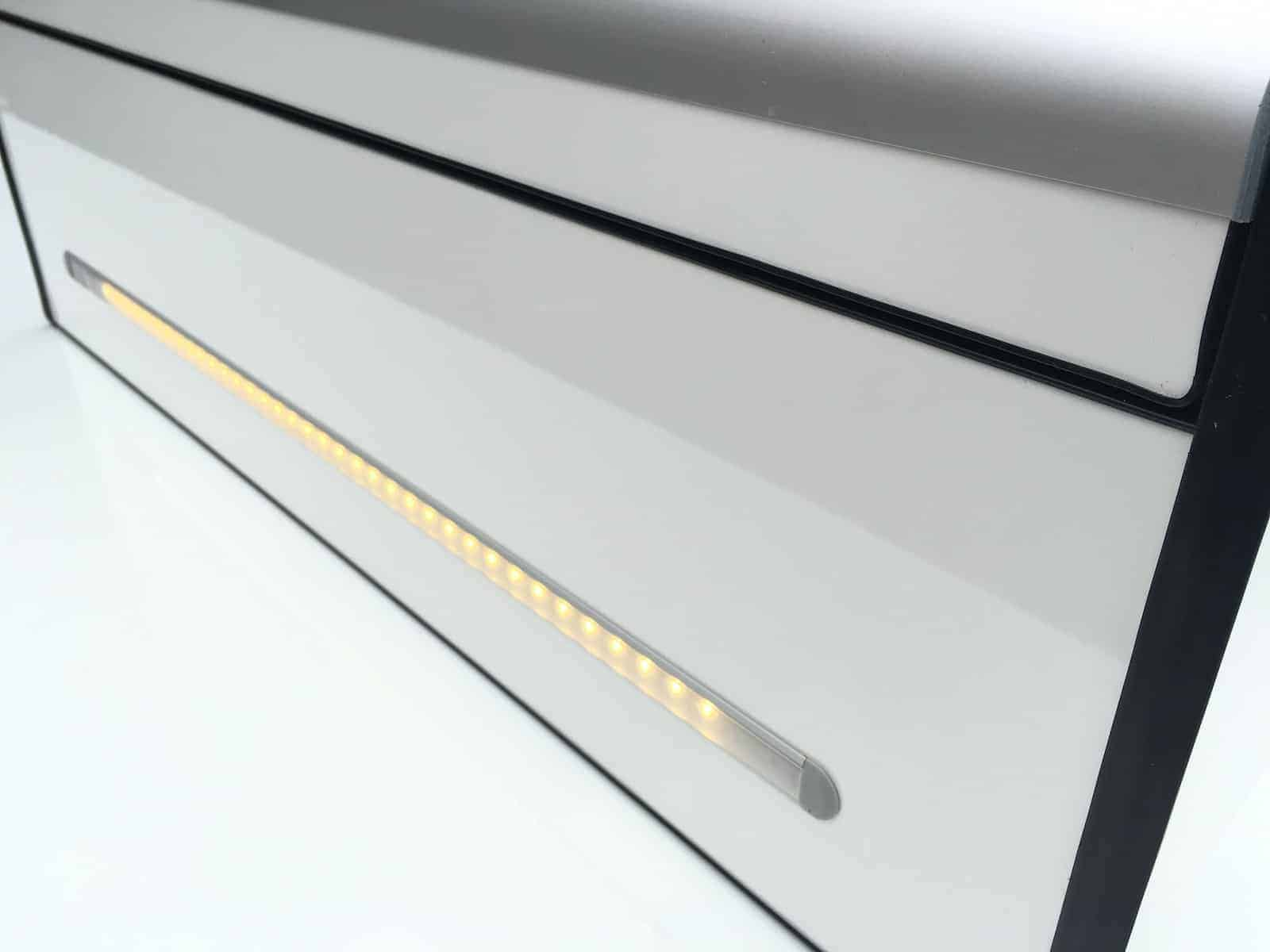 Led Light Strip Machined Into Locker Evo Design