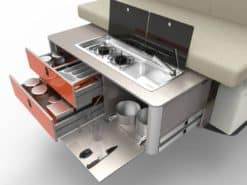 compact sliding rear kitchen