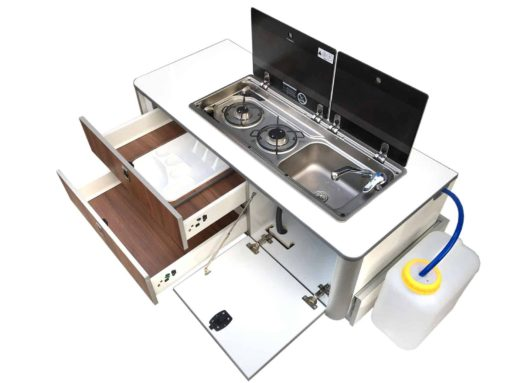 rear kitchen camper rv furniture kitchen pod