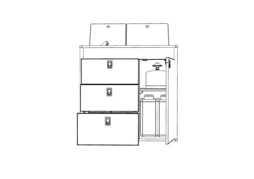 vw t6 kitchen pod 800mm x 400mm