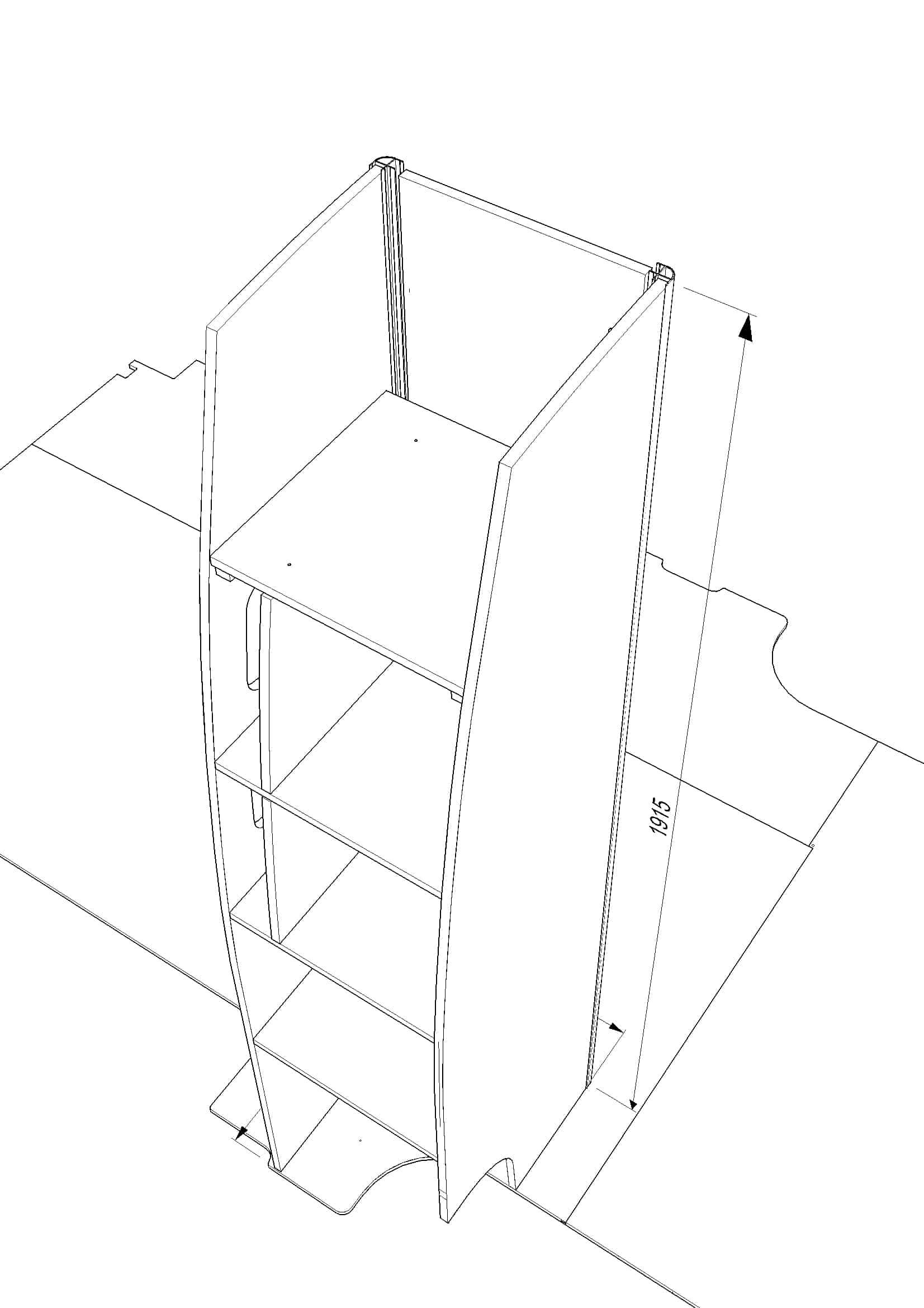 Evo Tall Cupboard 400mm  U2013 Merc Sprinter Or Vw Crafter